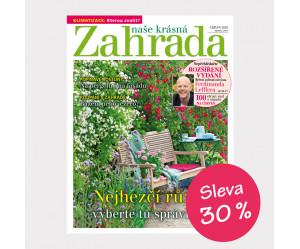 Roční předplatné Naše krásná zahrada se slevou 30%