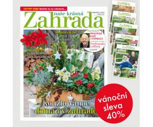Roční předplatné Naše krásná zahrada (12 vydání) + Speciály NKZ 2020 (5 vydání) se slevou 40%