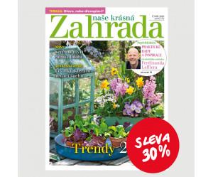 Roční tištěné předplatné Naše krásná zahrada se slevou 30%