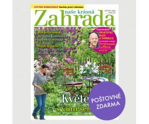 Aktuální vydání Naše krásná zahrada 5/2020 POŠTOVNÉ ZDARMA (pouze pro ČR)
