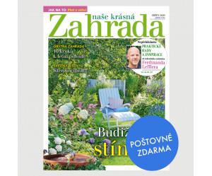 Aktuální vydání Naše krásná zahrada 8/2020 POŠTOVNÉ ZDARMA (pouze pro ČR)