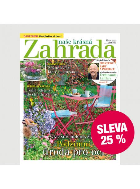 Roční tištěné předplatné Naše krásná zahrada se slevou 25 %