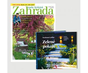 Roční předplatné Naše krásná zahrada + kniha Zelené pokoje