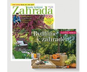 Roční předplatné Naše krásná zahrada + kniha Bydlíme v zahradě