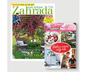 Roční předplatné Naše krásná zahrada + kniha Tvořte s námi celý rok
