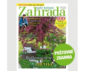 Aktuální vydání Naše krásná zahrada 4/2021 POŠTOVNÉ ZDARMA (pouze pro ČR)