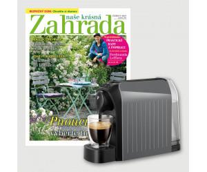 Roční předplatné Naše krásná zahrada + Kávovar Tchibo Cafissimo Easy GREY