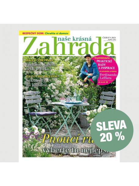 Půlroční tištěné předplatné Naše krásná zahrada se slevou 20%