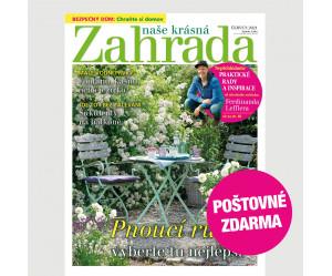 Aktuální vydání Naše krásná zahrada 6/2021 POŠTOVNÉ ZDARMA (pouze pro ČR)
